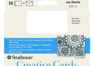 Creative Cards Glour White w/Deckle