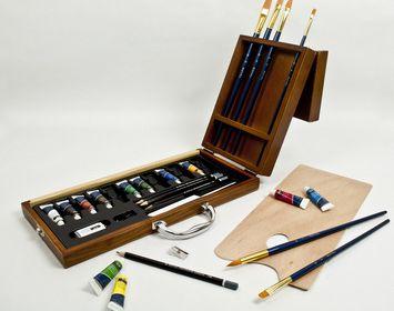 Acrylic Art Set Wood Box