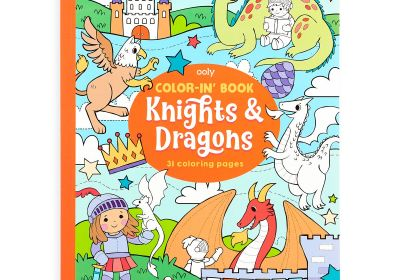 Color it Book-Knights & Dragons