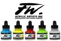 FW 1oz Acrylic Ink Flourescent Green
