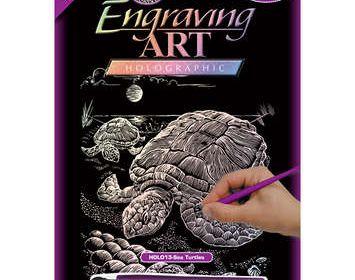 R&L engraving sea turtle