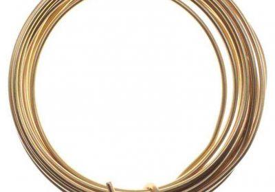 Craft Wire Brass/Gold 7 feet 16 Gauge