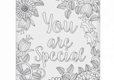 Coloring Postcard-You are Special