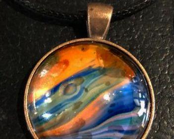 Acrylic Pour Necklace 34