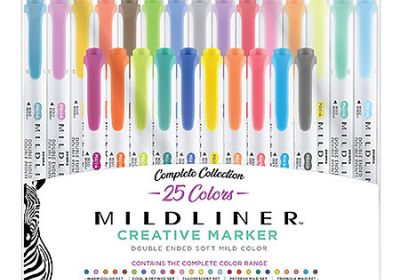 Zebra Mildliner Creative Marker 25 Set