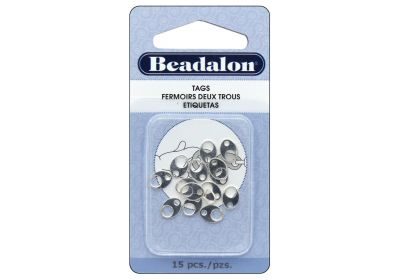 Silver tags oval 8mm 15 pc