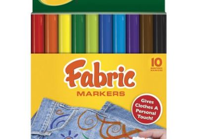 Crayola Fabric Markers 10 pk