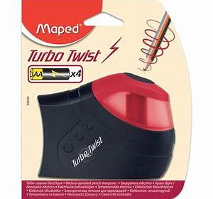 Maped Turbo Twist pencil sharpener-Battery Operated