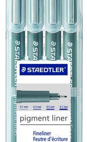 Staedtler Pigment Liner - Set of 4 Black
