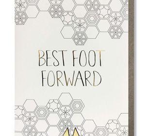 Coloring Card-Best Foot Forward