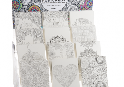 Coloring Postcard-A Day without Laughter is a Day Wasted