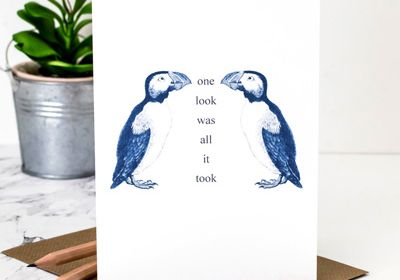 One Look- Greeting Card