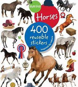 eyelike Horses Reusable Sticker Book