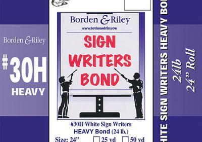 Sign writer's bond 36