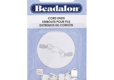 C-Crimp & Fold-Over Cord Ends, Fold Over - Silver