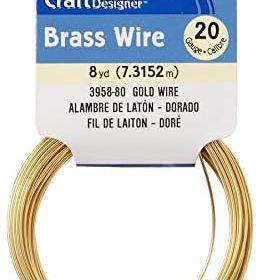 Craft Wire Brass/Gold 8 ydst 20  Gauge