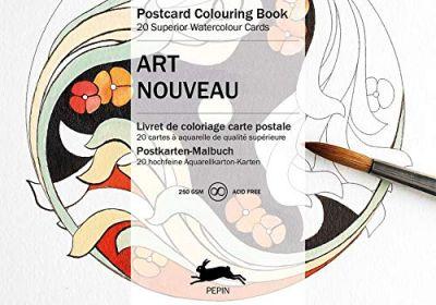 Art Nouveau Postcard Colouring Book