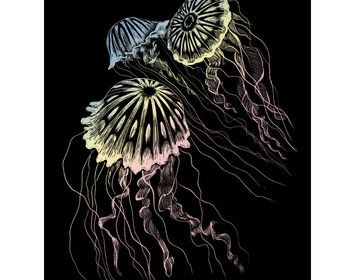 R&L Engraving Art Holographic Jellyfish