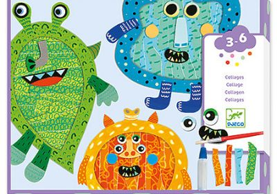 Happy Monsters Tear & Stick Collage Kit