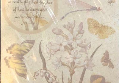 Embossed  Stickers Botanical