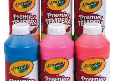 Crayola Premier Tempera Paint Flour. Orange 16floz
