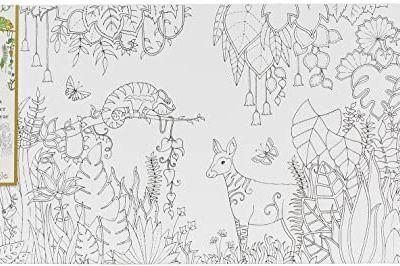 Johanna Basford Coloring Canvas Magical Jungle 12 x 24