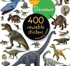 eyeLike 400 Reusable Dinosaurs Sticker Book