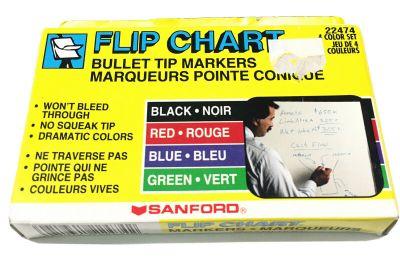 Sanford Flip Chart Marker set 4