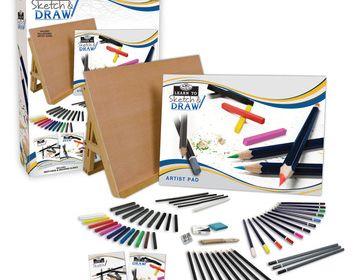 R&L Sketch & Draw 58 pc set