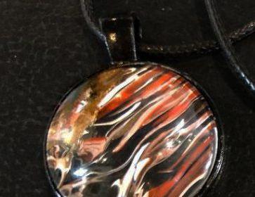 Acrylic Pour Necklace 33