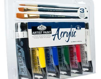 R&L Acrylic Paint & Brush Set 6X 120ML