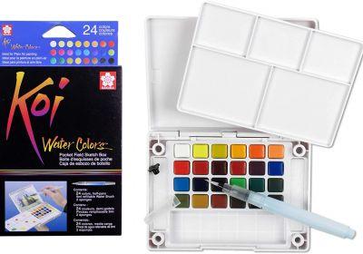 Koi 24 Color Transparent W/C Pocket Box