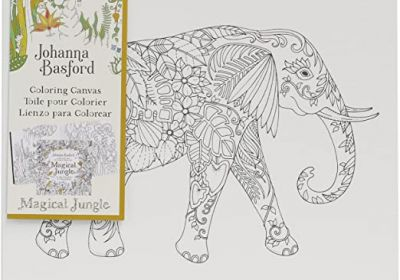 Johanna Basford Coloring Canvas Elephant 12 x 12