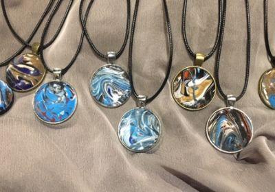 Acrylic Pour Necklaces