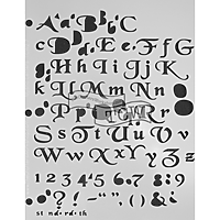 8.5 x 11 Letter Stencil Mystic Letters