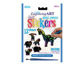 Engrave Art Animal Stickers