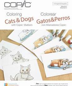 Copic Coloring Cats and Dogs