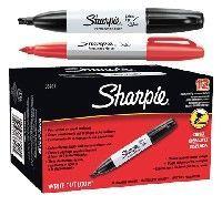 SHARPIE CHISEL TIP Red