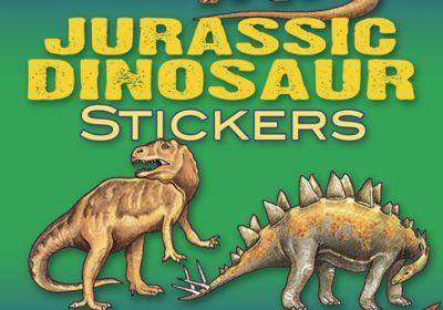 Small Format Sticker Books, Jurassic Dinosaurs