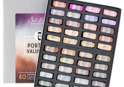Jack Richeson Portrait Value 8-10 Soft Handrolled Pastels  40 Set