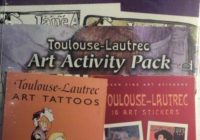 Color your own Toulouse-Lautrec Art Activity Pack