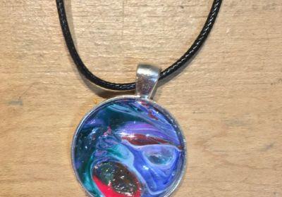 Acrylic Pour Necklace-13