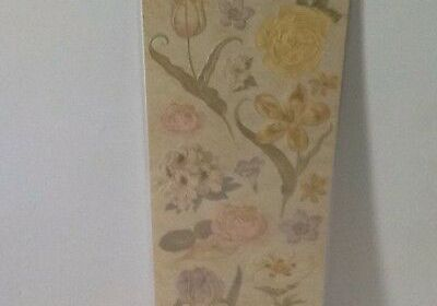 Embossed  Stickers Pastel Flower