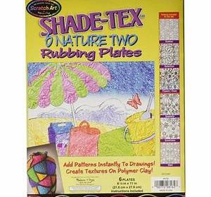 Scratch Art Shade-Tex Plates Nature Two Rubbing Plates