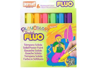 Flourescent Tempera Playcolor 6 set