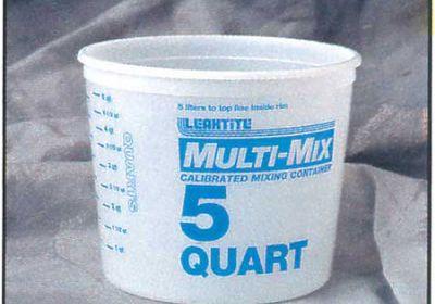 2.5 QT PLASTIC TUB