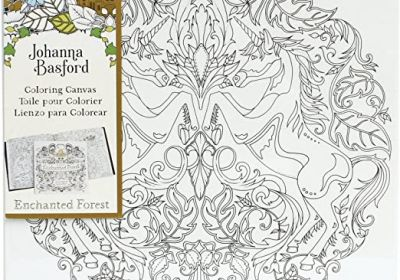 Johanna Basford 12 x 12 Coloring Canvas Unicorn