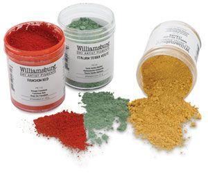 Williamsburg dry pigment green gold