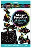 Scratch Art Birthday stickers