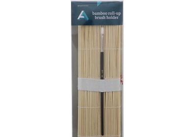 AA Bamboo Brush Roll-Up Brush Holder